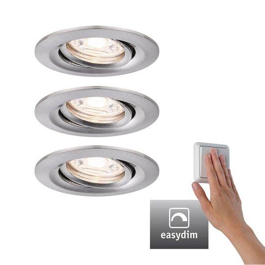 Paulmann Nova mini Plus LED easydim 3 kpl rauta
