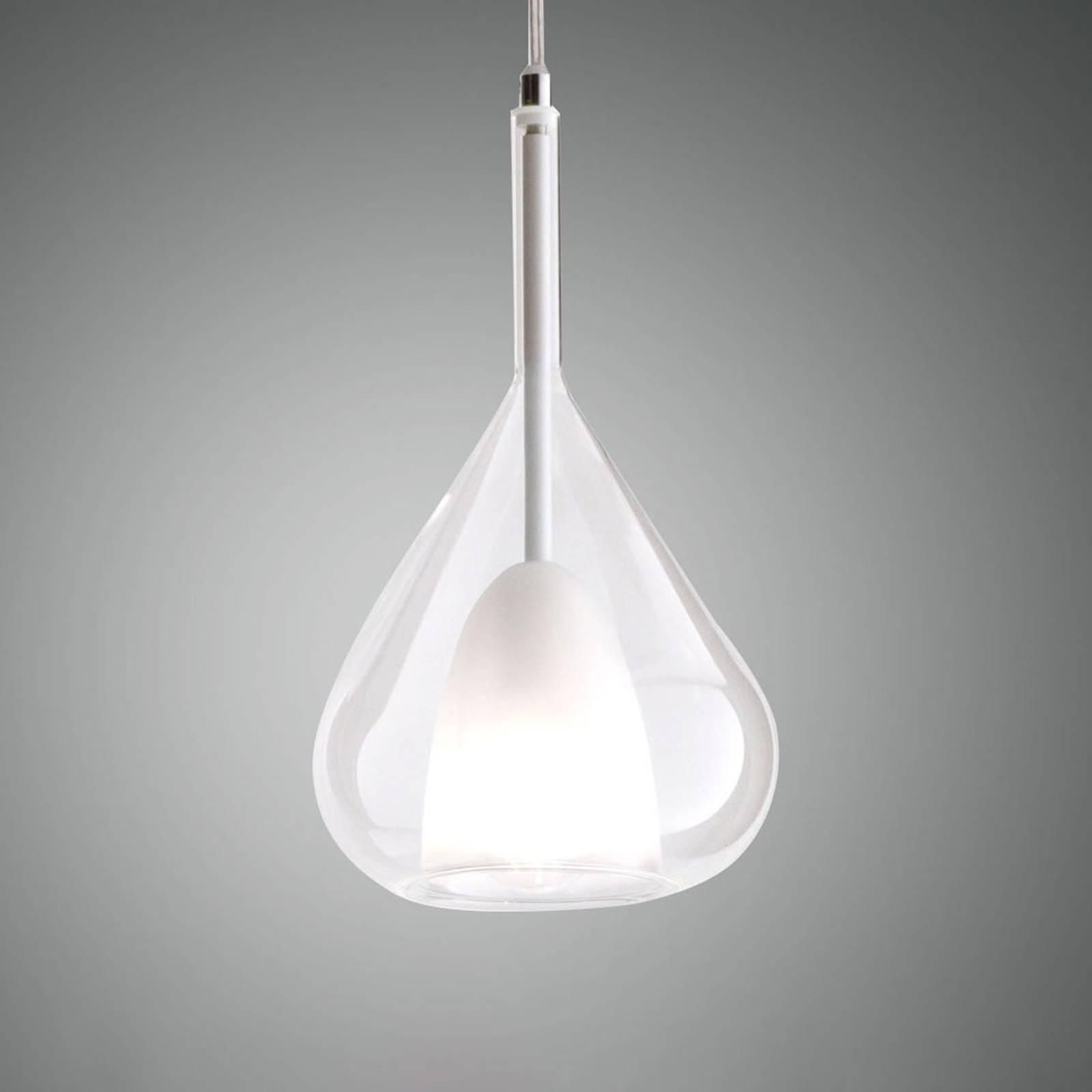 Riippuvalo Lila lasia, 1-lamppuinen, kirkas