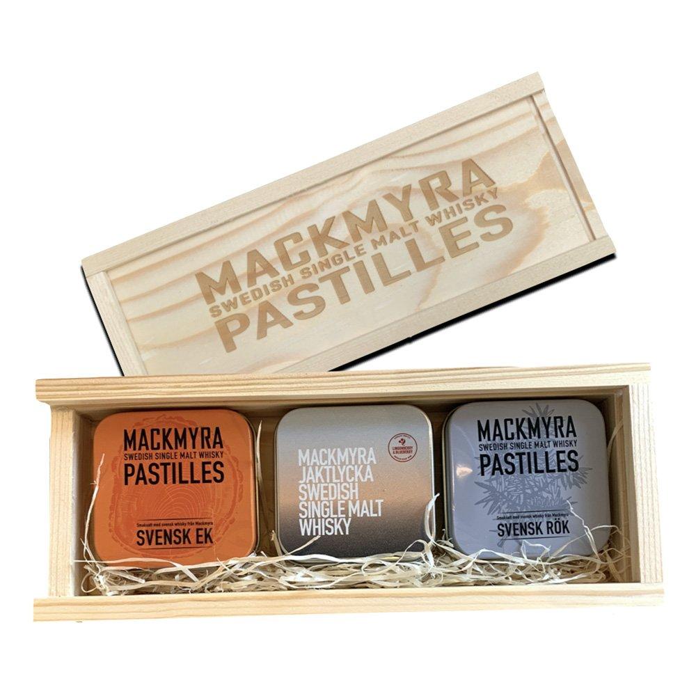 Mackmyra Whiskypastiller - 3-pack med Presentlåda
