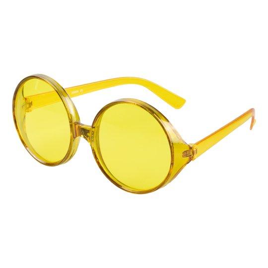 Glasögon Runda Stora Gula - One size