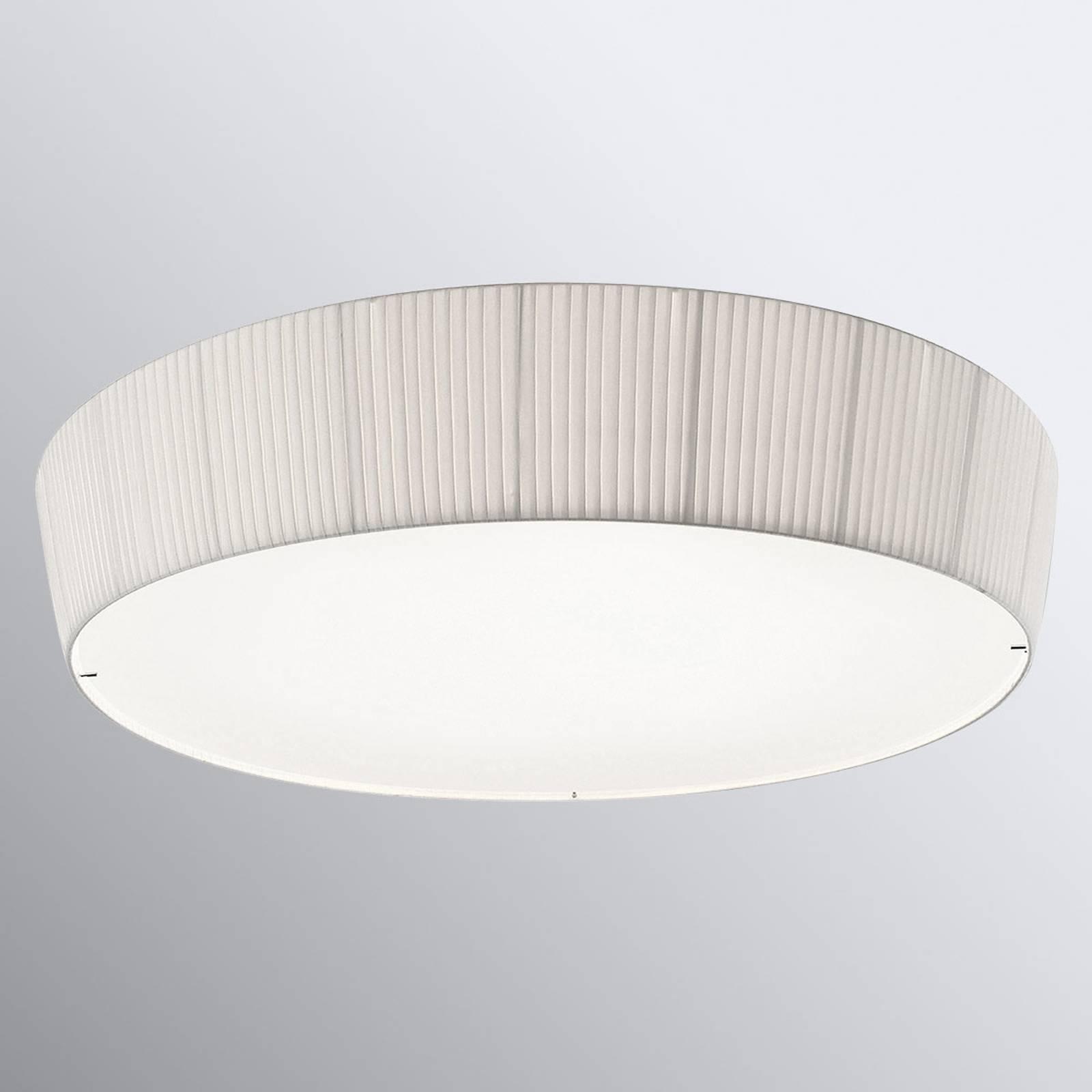 Bover Plafonet 95 tekstiilikattolamppu, valkoinen