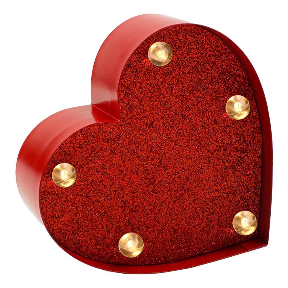 Dekorativ Minilampa Hjärta