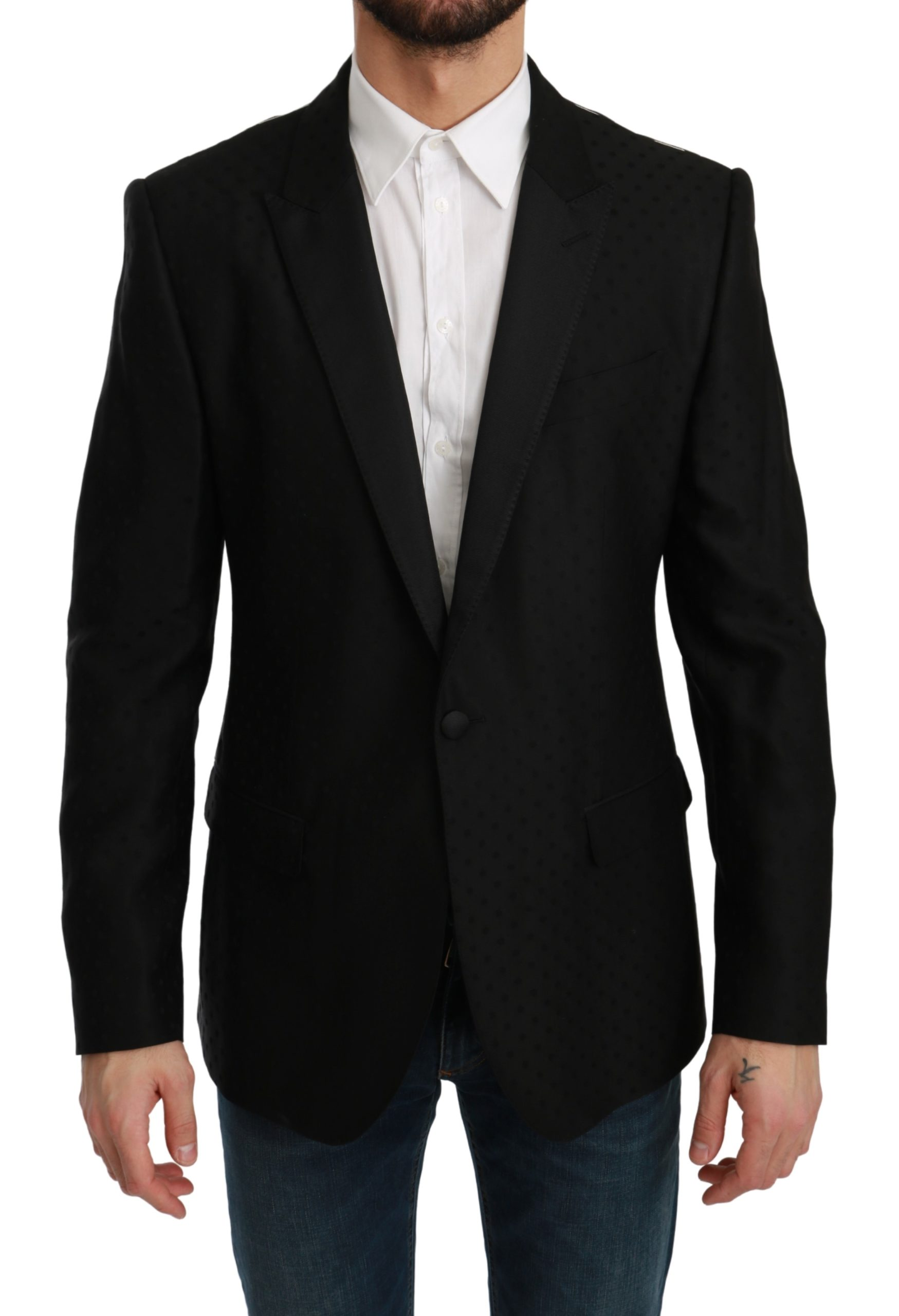 Dolce & Gabbana Men's Slim Fit MARTINI Blazer Black KOS1764 - IT44   XS