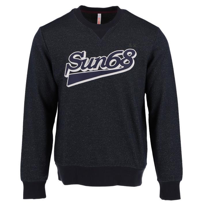 Sun68 Men's Sweater Blue 307953 - blue S