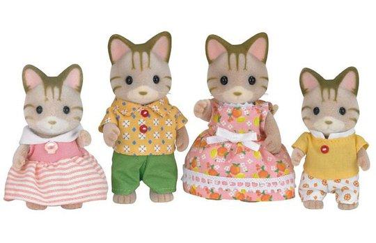Sylvanian Families 5180 Stripete Katt Familie