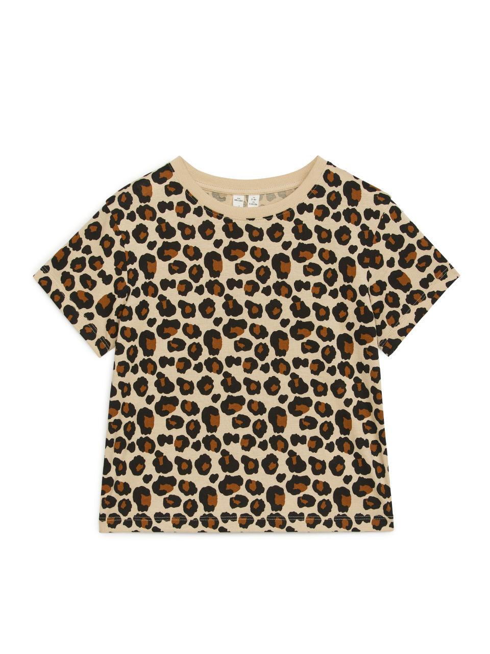 Printed Organic Cotton T-Shirt - Beige