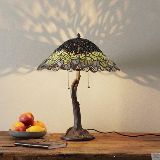 Uvanlig bordlampe Jamaica, Tiffany-stil