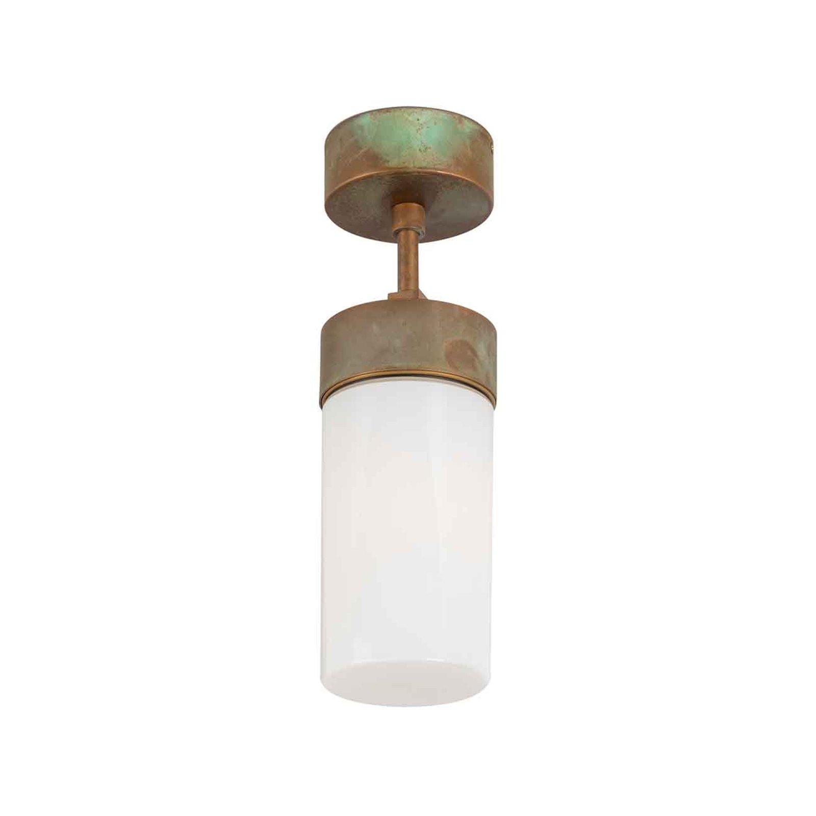 Silindar 3357 taklampe, antikk messing/opal