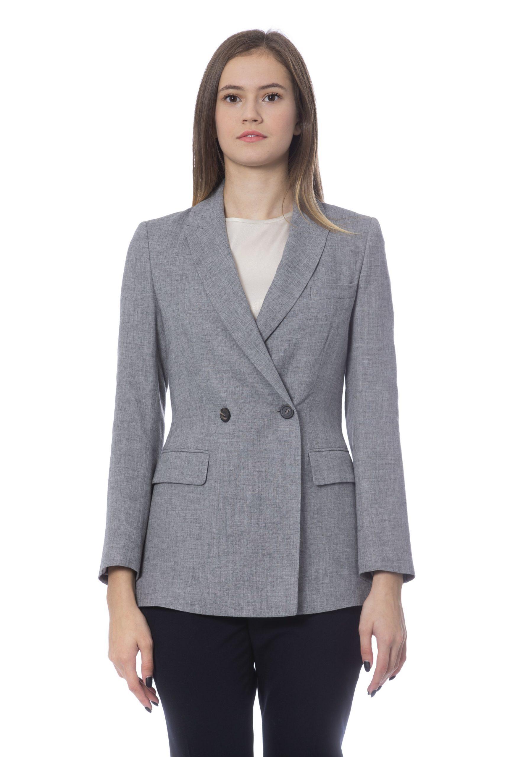 Peserico Women's Jacket Grey PE854510 - IT42 | S
