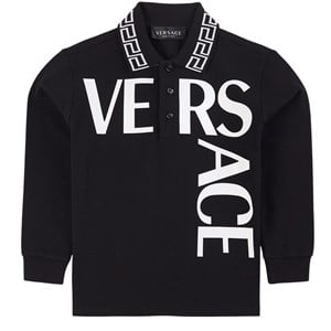 Versace Logo Pikétröja Svart 4 år