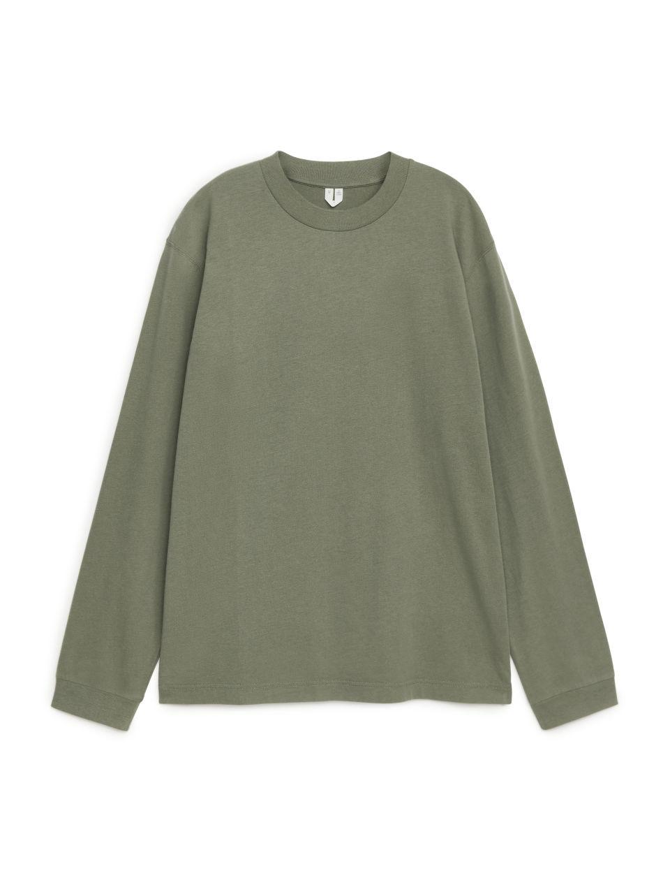 Long-Sleeved Organic Cotton T-Shirt - Green