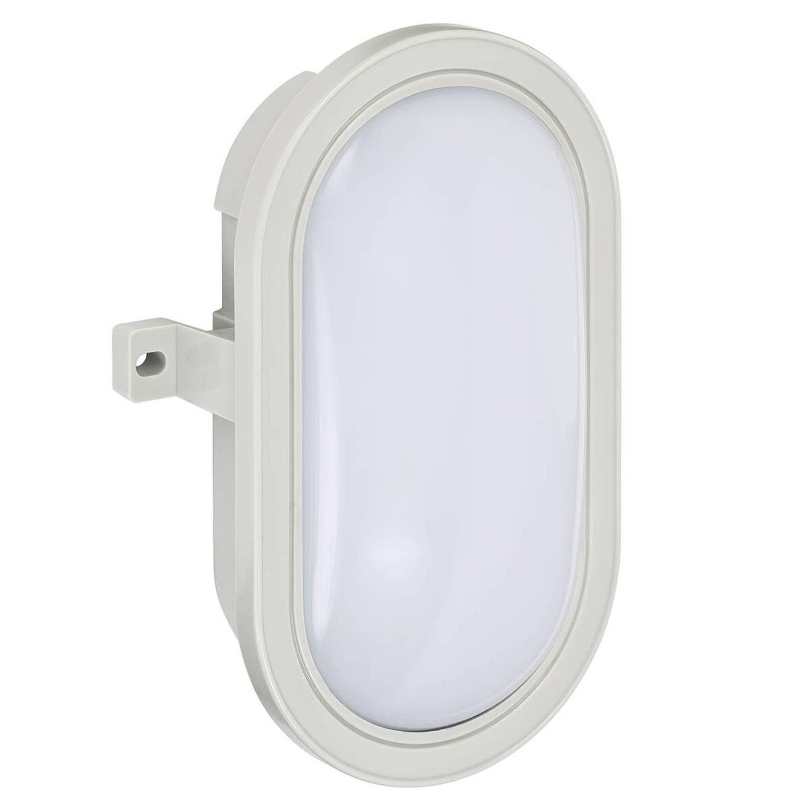 Oval utendørs LED-vegglampe Mats av plast