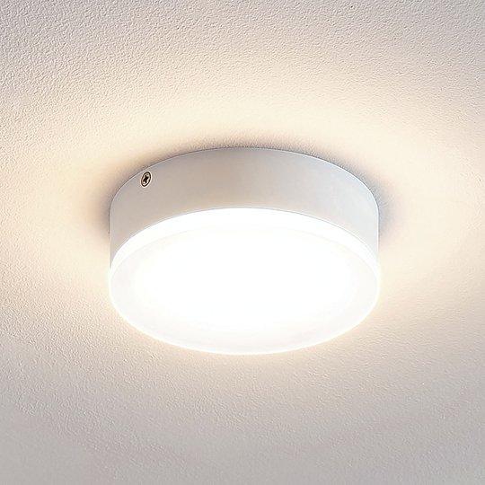 Lindby Leonta LED-kattovalaisin, valkoinen, 12 cm