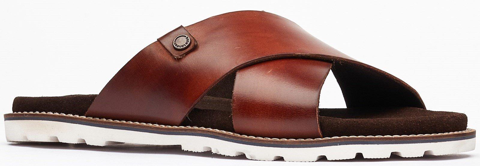 Base London Men's Gobi Slip On Sandal Various Colours 32497 - Brown 7
