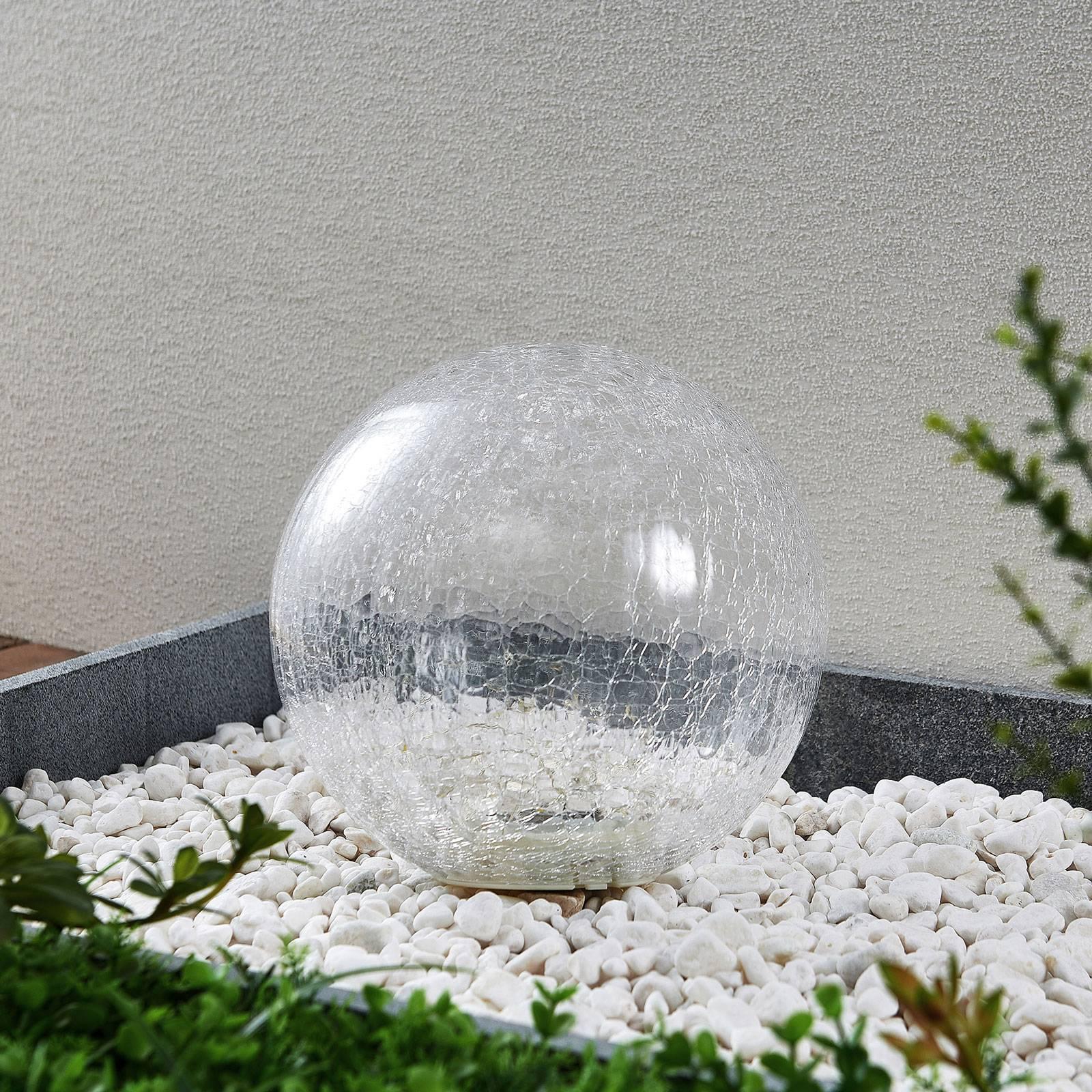 Lindby Feodoria -LED-aurinkomaapiikkivalo, Ø 25 cm
