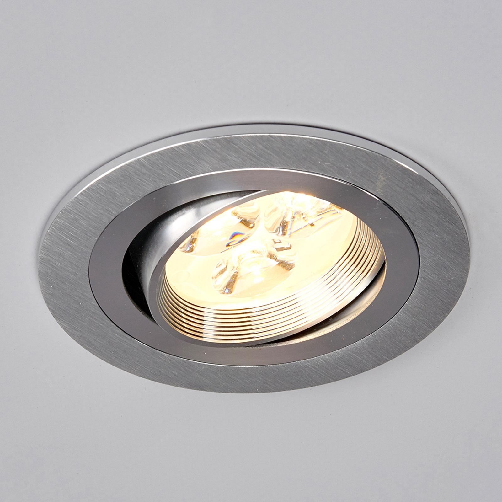 Pyöreä LED-uppovalaisin Tjark alumiinista