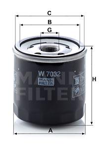 Öljynsuodatin MANN-FILTER W 7032