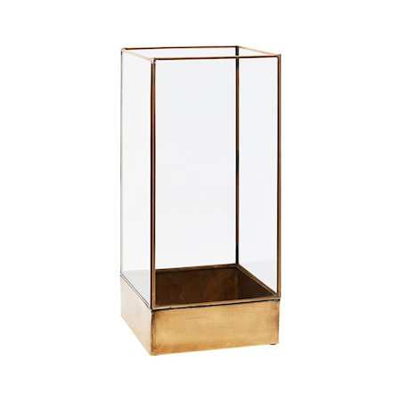 Plant Displaybeholder Messing/Glass Rektangulær