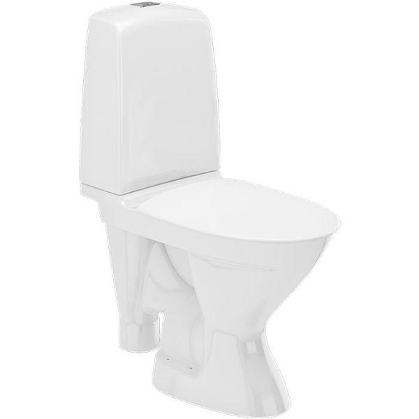 Ifö Spira Rimfree 627008811010 Toalettstol med mykt sete, for liming
