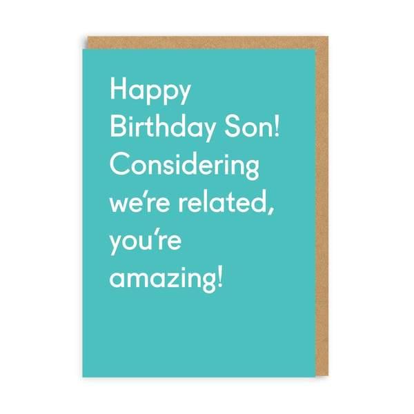 Son Happy Birthday Greeting Card