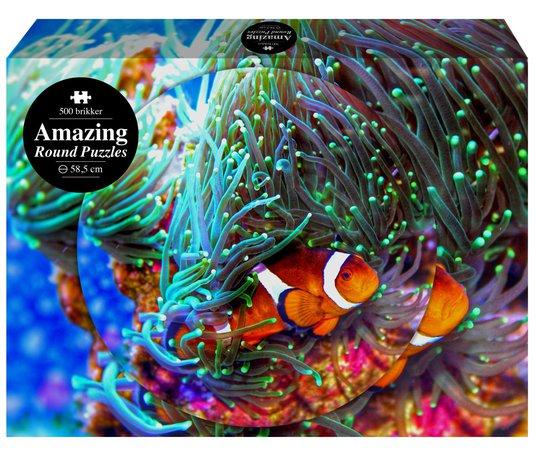 1play Amazing Round Puslespill Fisk, 500 Biter