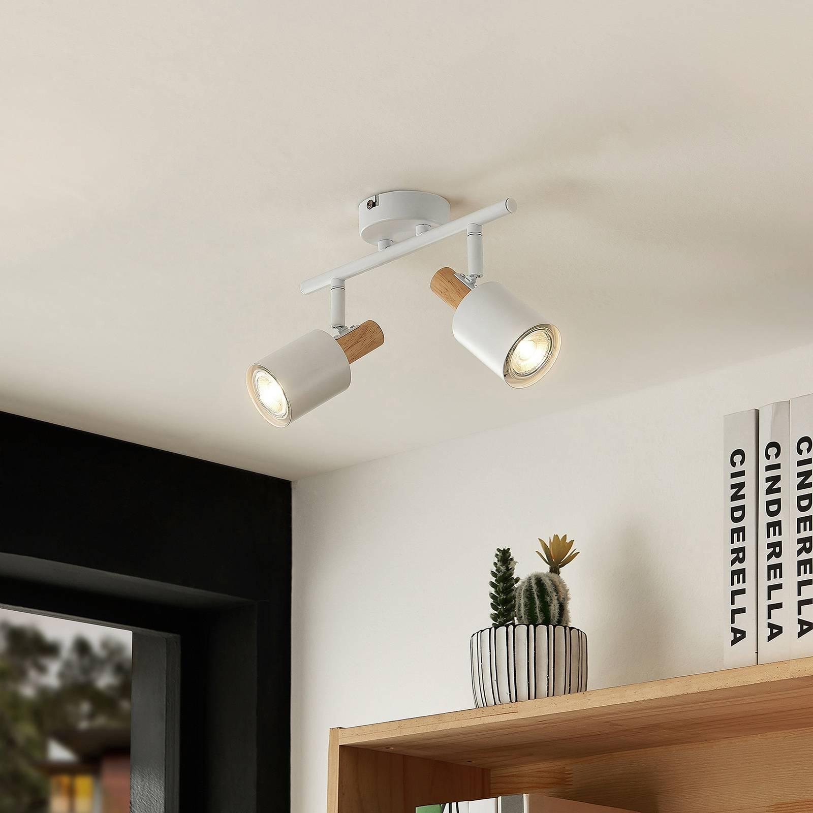 Lindby Junes -LED-kattospotti 2-lamppuinen