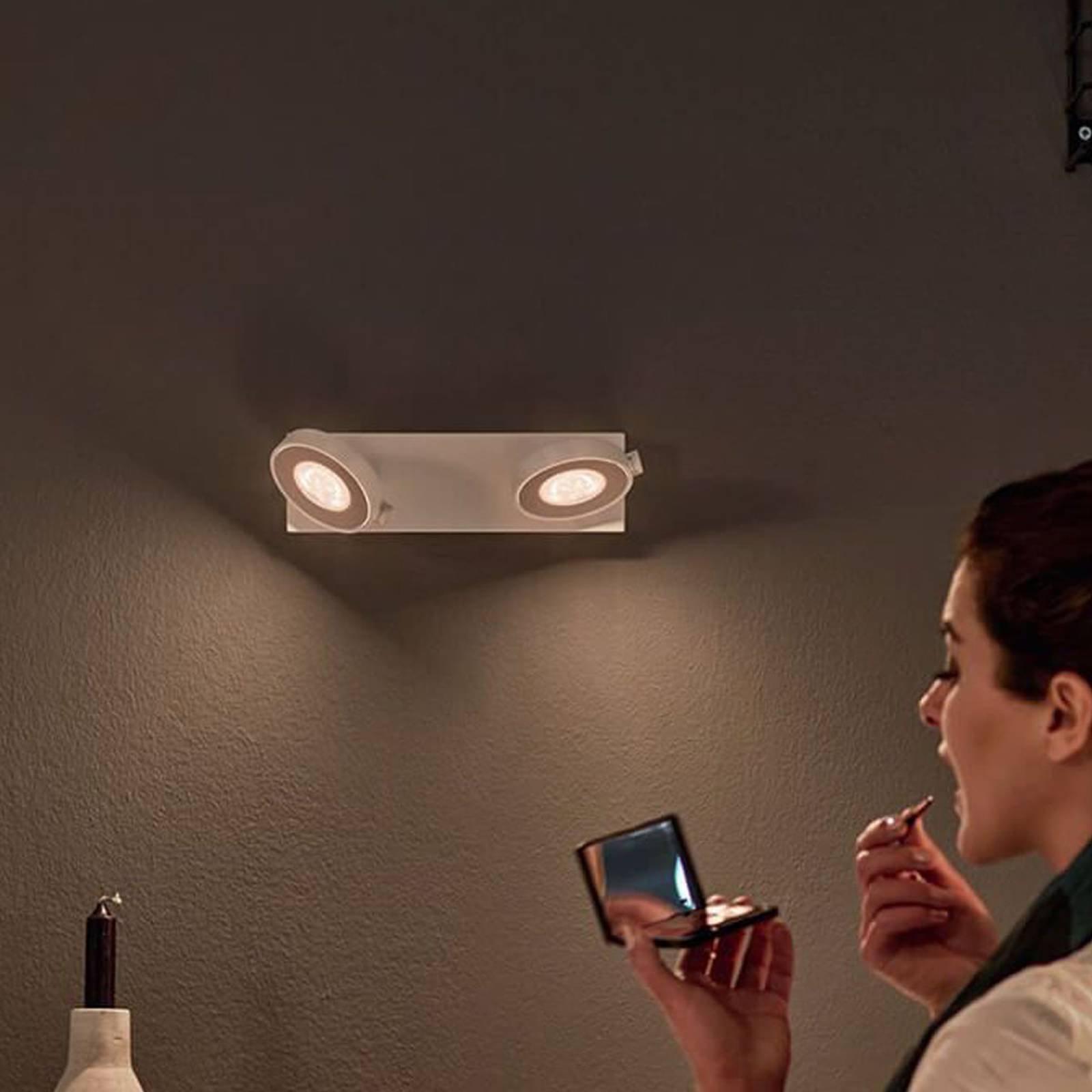2 lyskilder LED-spot Clockwork med warmglow-effekt