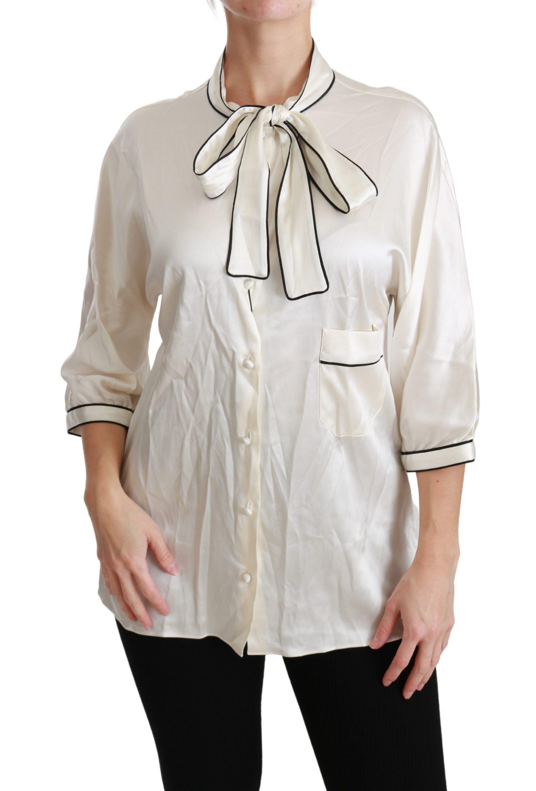 Dolce & Gabbana Women's 3/4 Sleeve Top Beige TSH4488-46 - IT46 XL