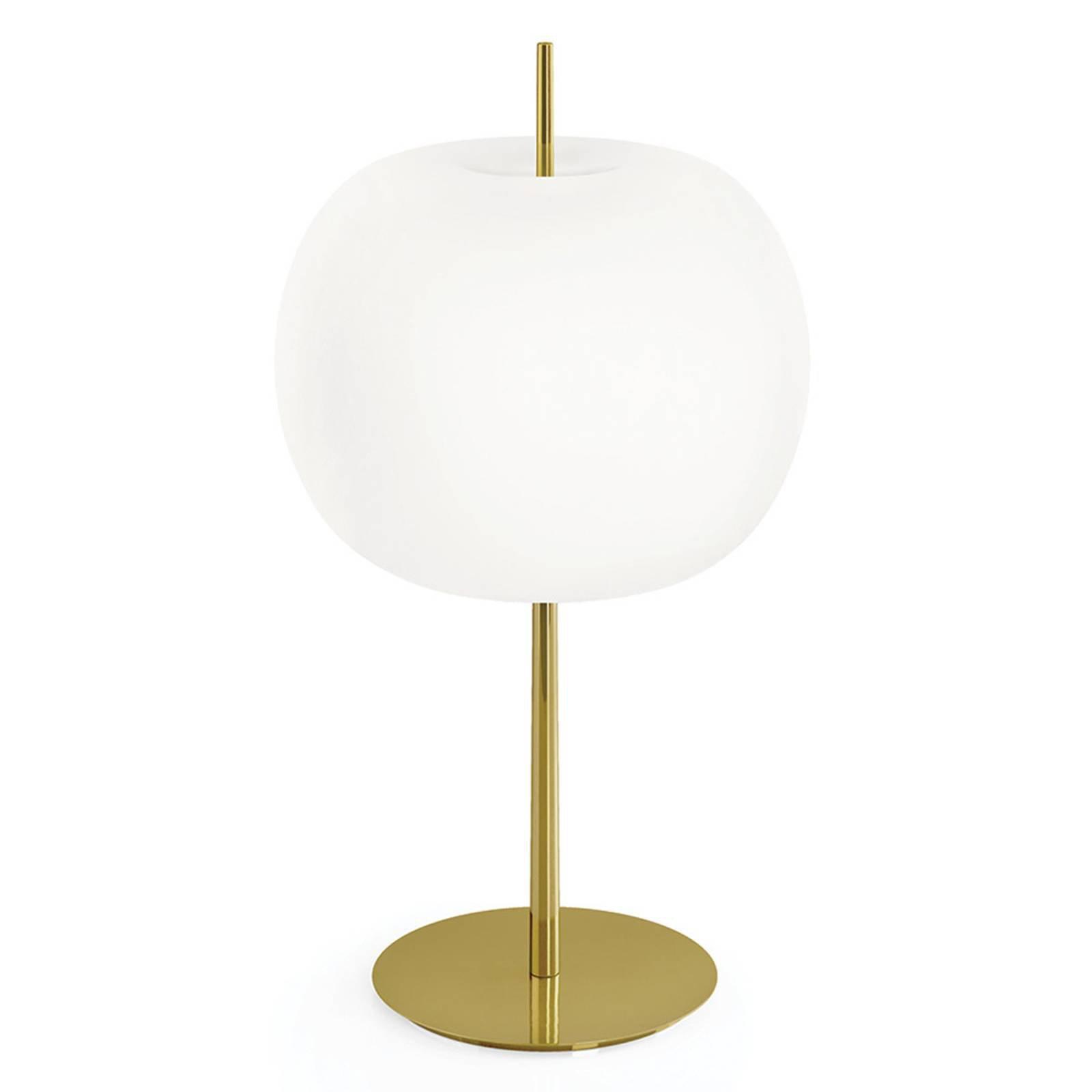 Kundalini Kushi XL bordlampe messing/hvit