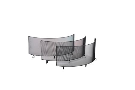 Gnistfångare med tre väggar till Braspanna 70 cm