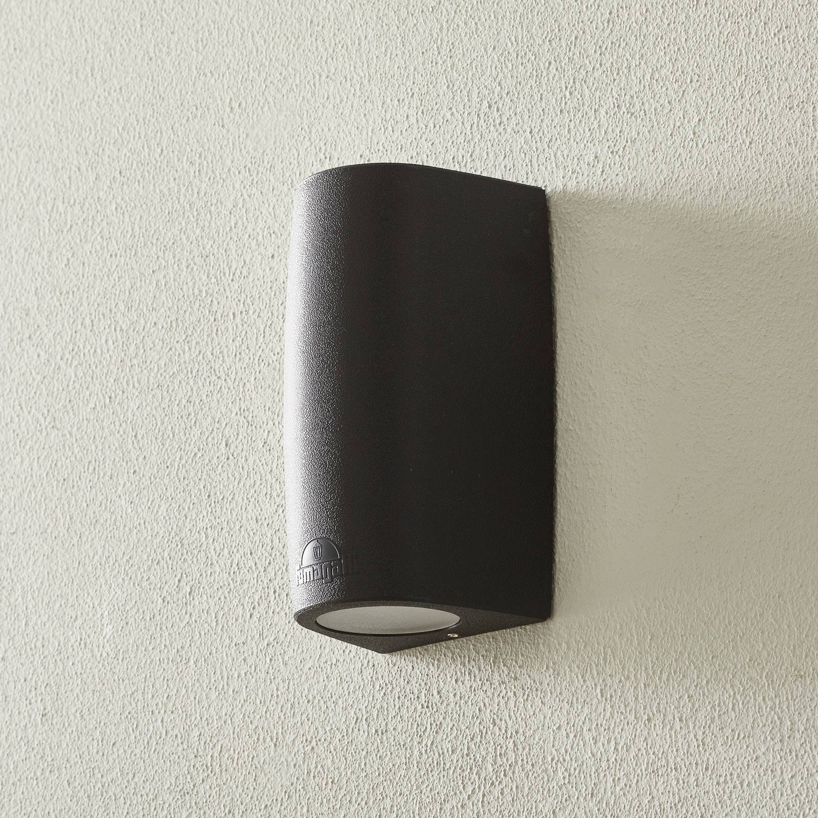 Marta-seinälamppu 9,2 cm 1-lamp. CCT musta/frosted