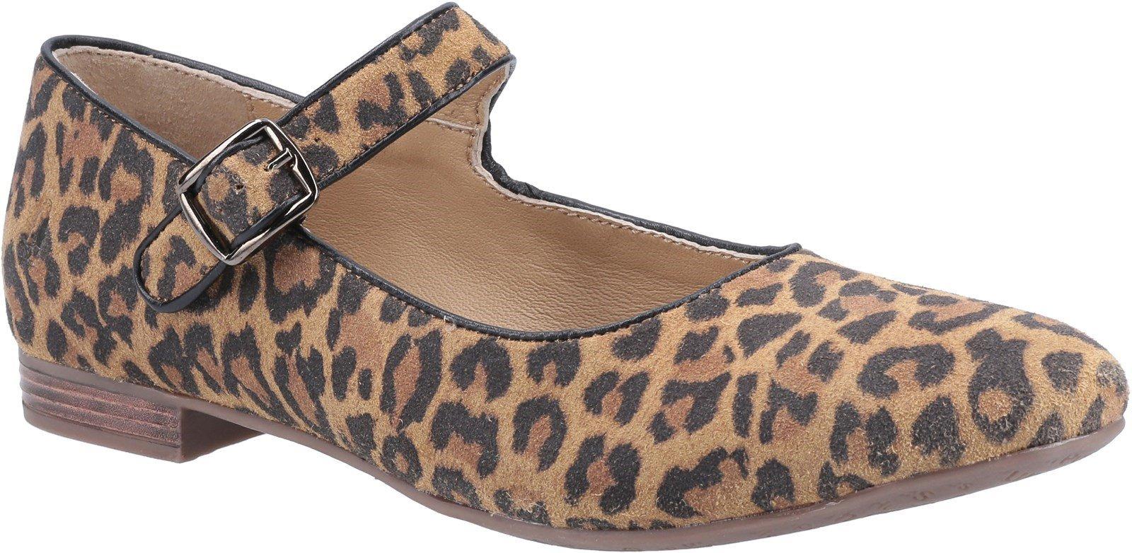 Hush Puppies Women's Melissa Strap Flat Shoe Various Colours 31954 - Leopard 3