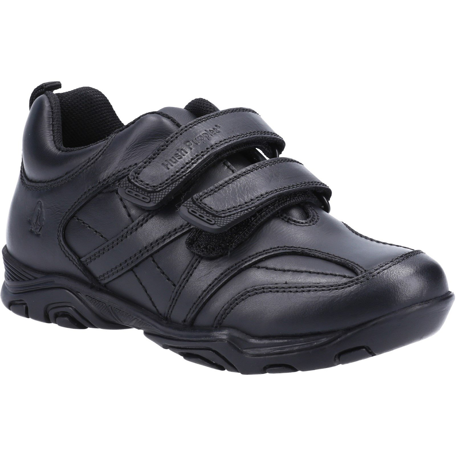 Hush Puppies Kid's Levi Infant School Shoe Black 32629 - Black 12