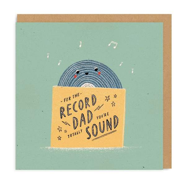 For The Record Dad Square Greeting Card