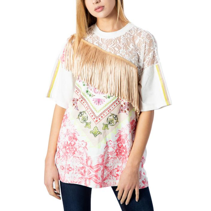 Desigual Women's T-Shirt White 170476 - white XS