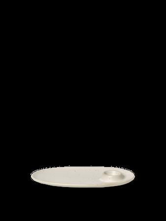 Flow Frukosttallrik Off-white speckle