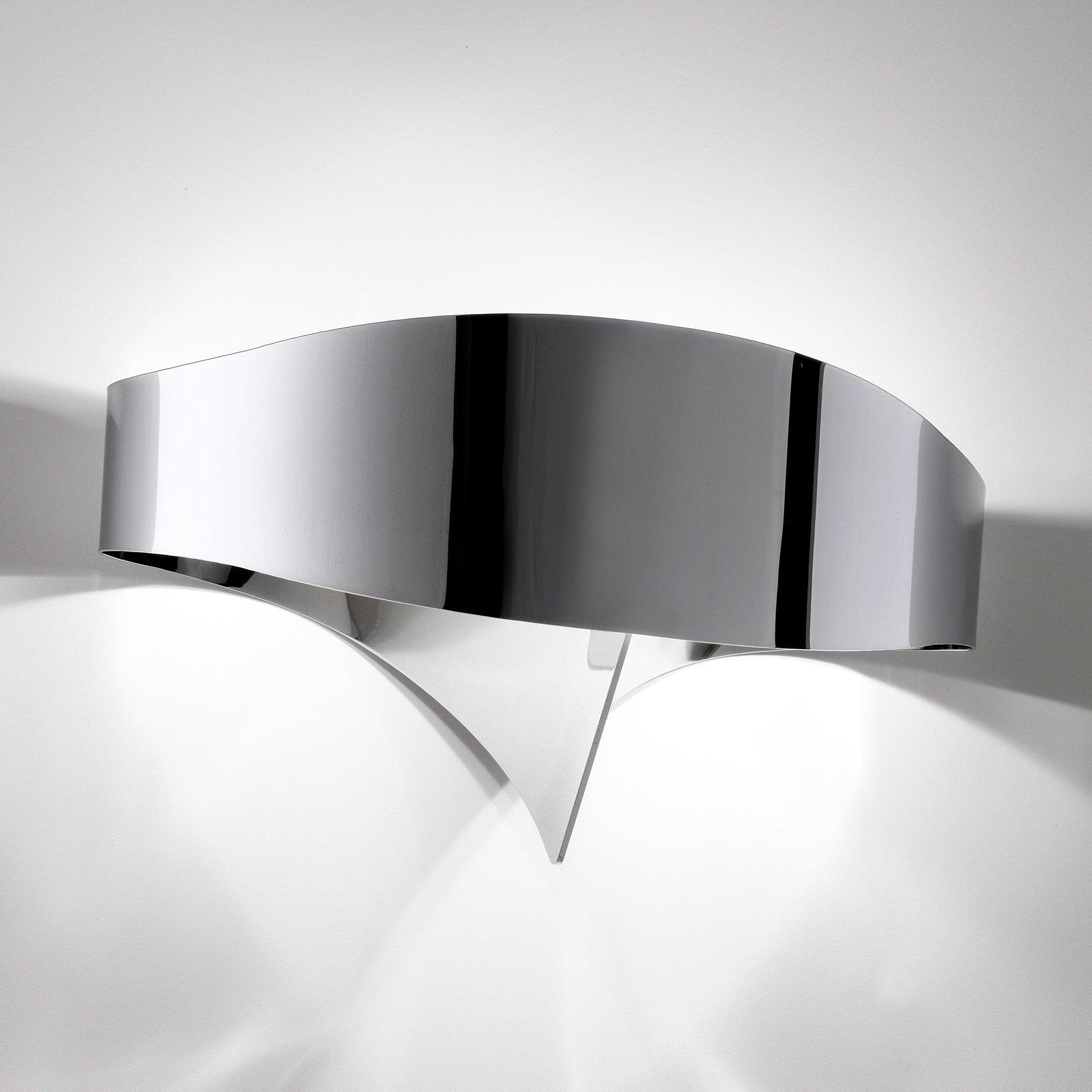 LED-vegglampe Scudo i kromstil