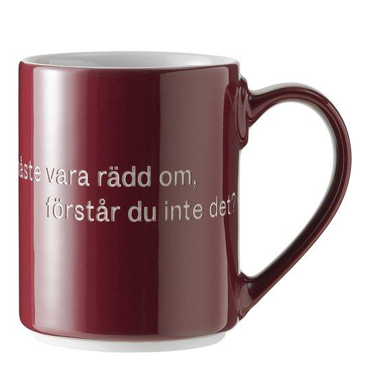 Design House Stockholm - Astrid Lindgren Mugg Vinröd Livet är en sak