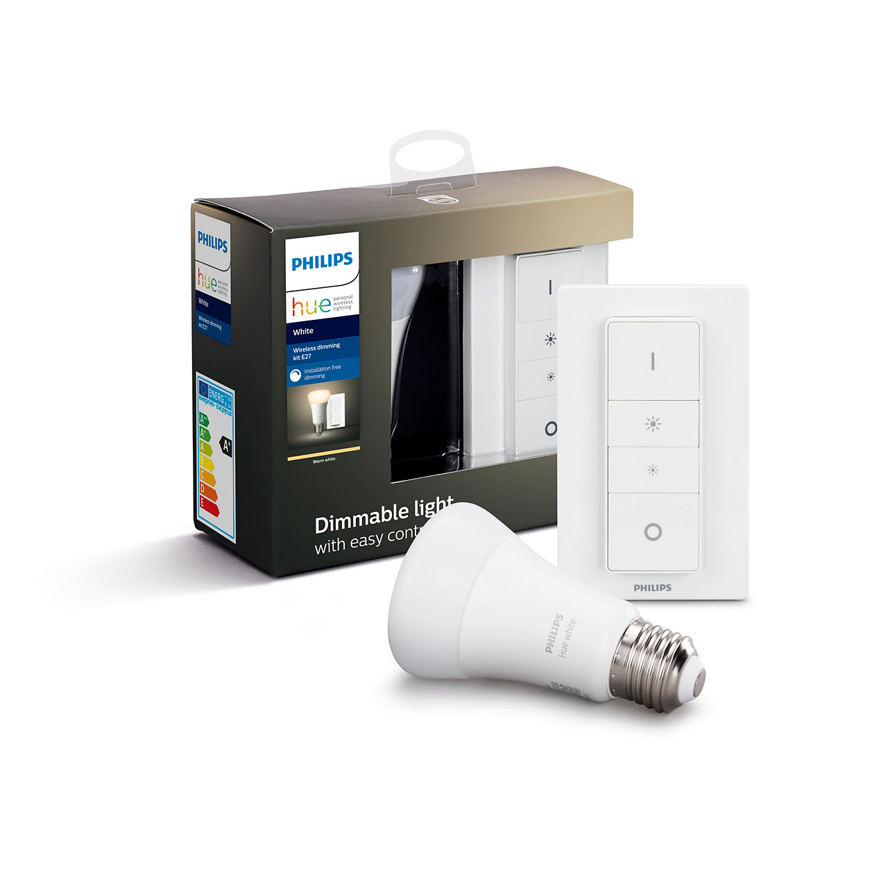 Philips Hue - E27 Wireless & Dimming Kit - White - Bluetooth