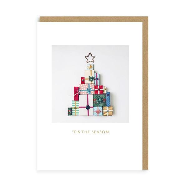 Christmas Tree Presents Christmas Card
