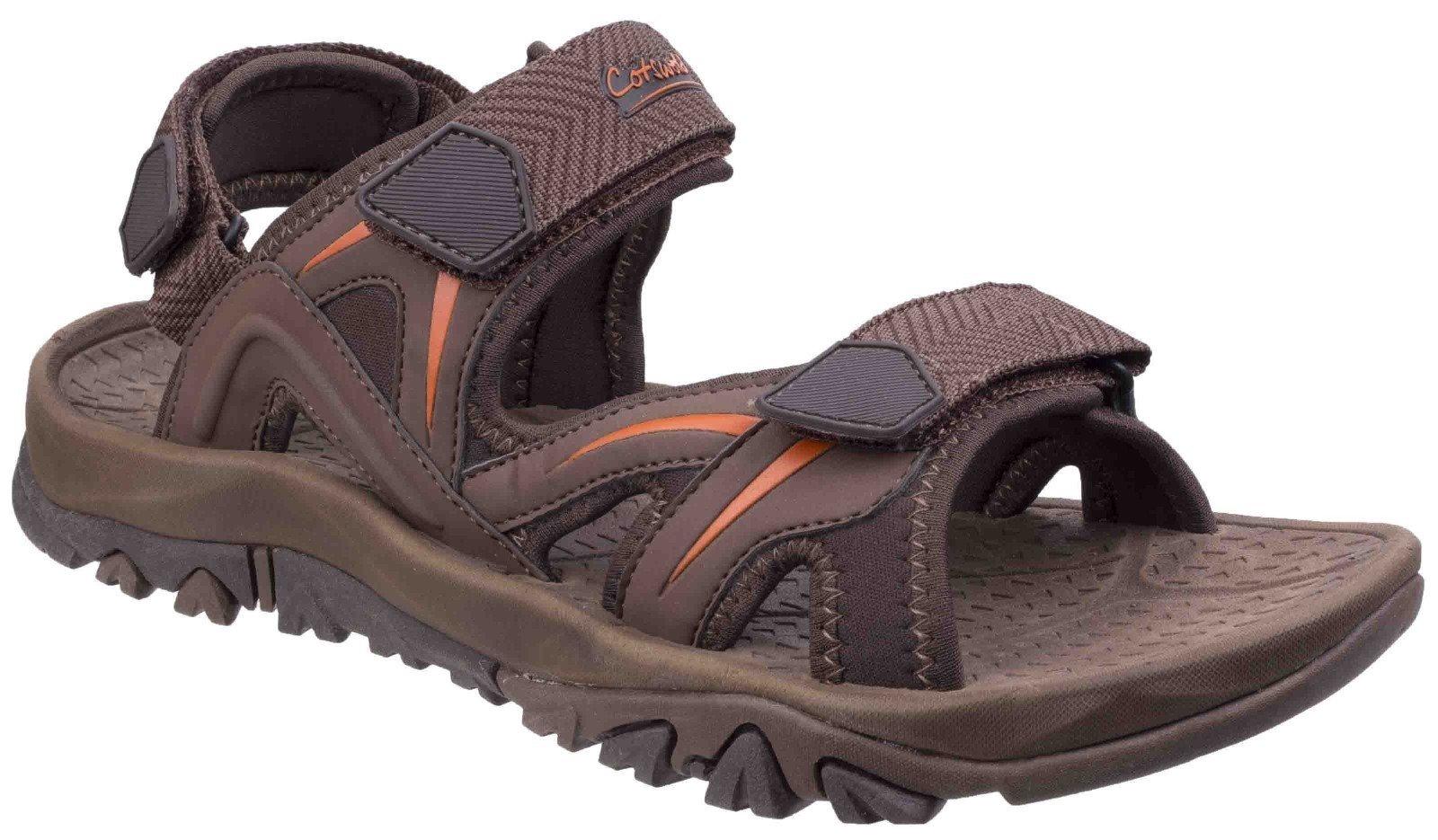 Cotswold Men's Cutsdean Sandal Various Colours 26276 - Brown/Orange 7