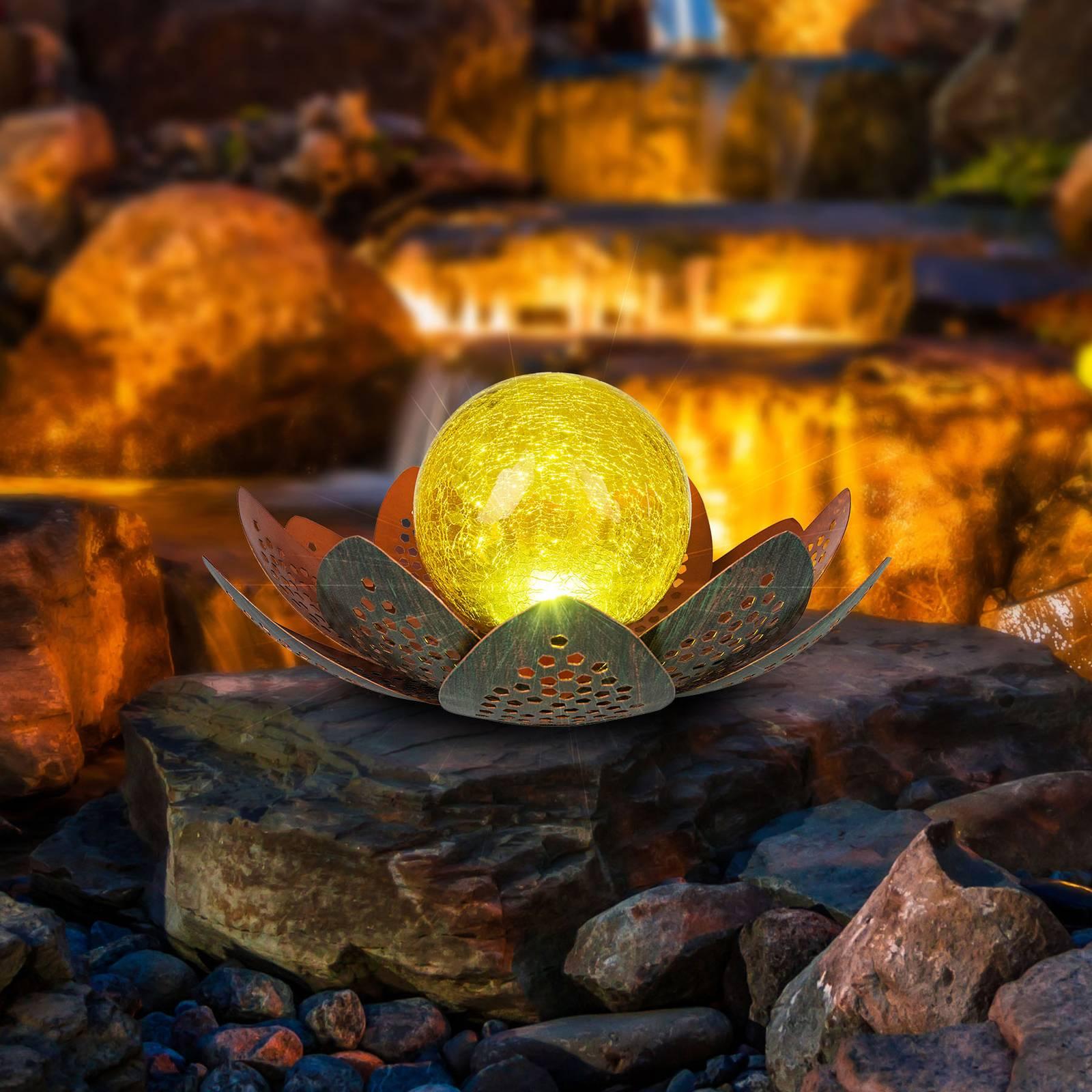 Aurinkokäyttöinen LED-lamppu 33655, kukka, Ø 22 cm