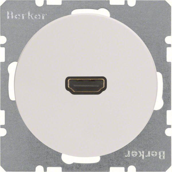 Hager 3315432089 HDMI-pistorasia R.1/R.3, 90° Valkoinen
