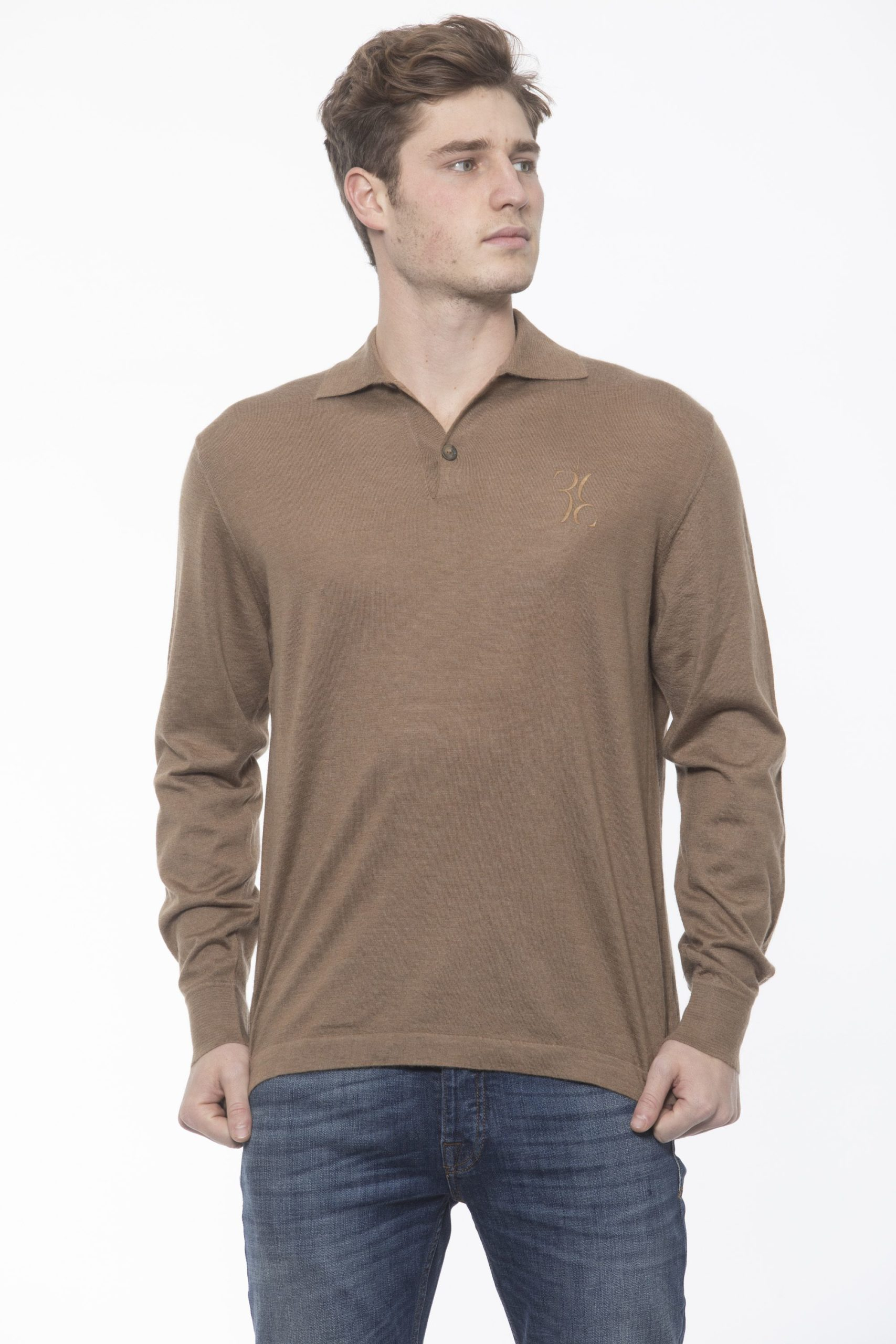Billionaire Italian Couture Men's Tabacco Polo Shirt Beige BI1313445 - XL