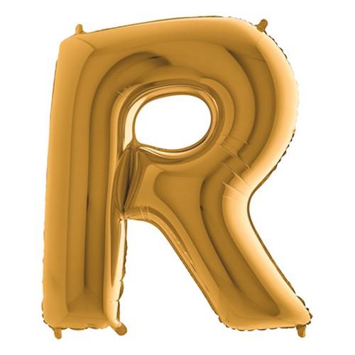 Bokstavsballong Guld - Bokstav R