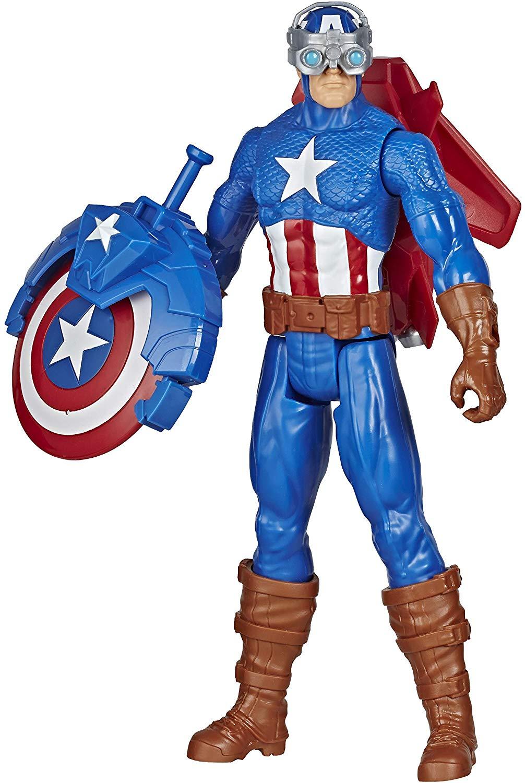 Avengers - Titan Hero - Blast Gear Captain America - 30 cm (E7374)