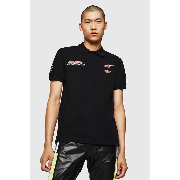 Diesel Men's Polo Shirt Black 283928 - black L
