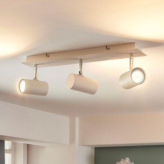 3-lamppuinen valkoinen LED-kattolamppu Iluk