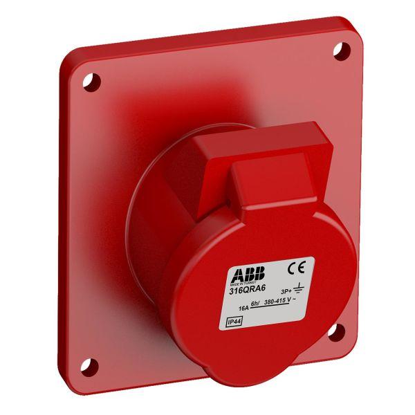 ABB 2CMA102309R1000 Paneluttak hurtigtilkoblet, vibrasjonsbestandig Vinklet, 4-polet, 16 A