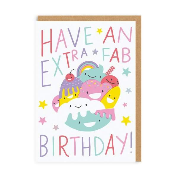 Extra Fab Birthday Greeting Card
